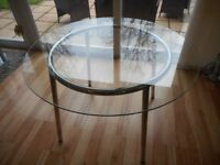 IKEA Round Glass/Chrome Table