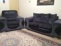 Grey and black sofa set