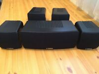 YAMAHA HOME CINEMA SPEAKERS, 100 Watts, FULLY WORKING, LOUD & CLEAR SOUND, EXCELLENT CONDITION.