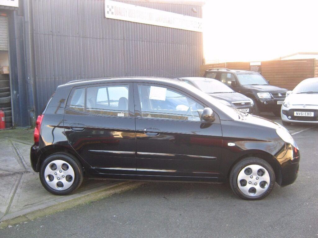 KIA PICANTO 1.1 2008 5 DOOR BLACK,TIDY CAR,BARGAIN £1395 DEBIT CARDS