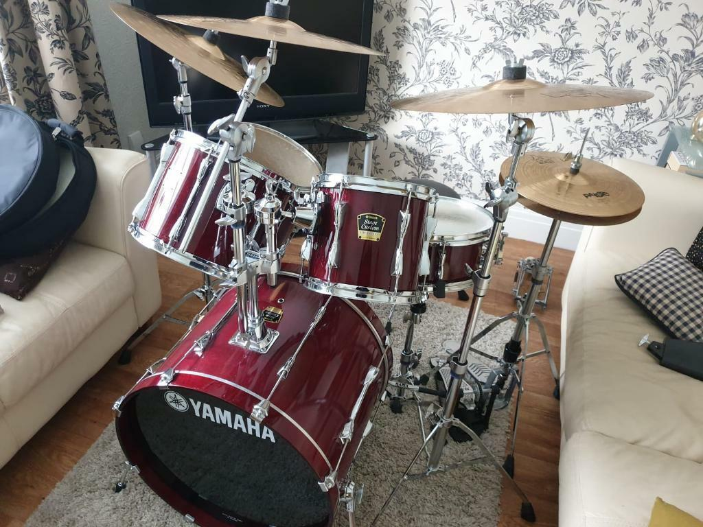 5 Piece Yamaha Stage Custom Advantage Drum Kit Glossy Cranberry Red | in  Swinton, Manchester | Gumtree
