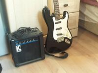 Good condition Electric Guitar and Amp for sale.