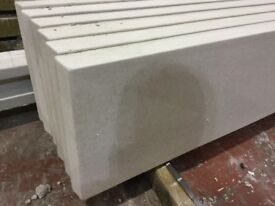 Smooth concrete gravel boards, base panels