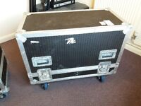 2 x 2-Speaker Flight Cases on castors - £400 ono