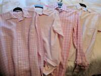 4 x pink, mens shirts, medium/large