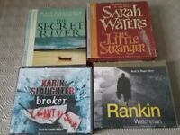 4 AUDIO BOOKS ....ASSORTED POPULAR AUTHORS