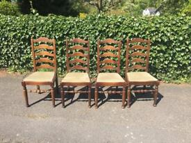 4 Ladder Back Dining Chairs for Renovation