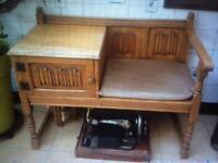 Vintage Old Charm Telephone Table / Hall Seat