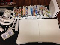 Wii console with Wii fit bundle including stand