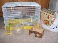 LARGE HAMSTER/GERBIL/RAT CAGE WITH ACCESSORIES (Barham IP6) GOOD CONDITION