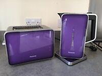 Panasonic kettle and toaster