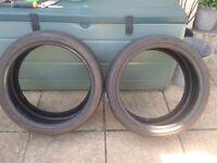 2 atlas low profile tyres 205/40/17