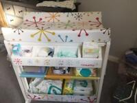 Cosatto changing table with baby bath
