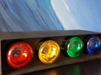Multi-coloured disco lights