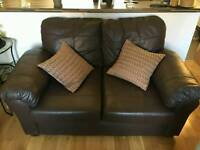 URGENT Leather Faced Sofa