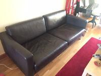 IKEA Full Leather Sofa Karlstad