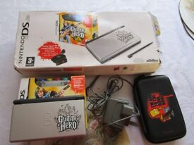 Limited Edition Guitar Hero Nintendo DS Lite games Console Bundle In original Box