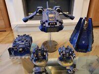 Warhammer 40k space marine vehicles (ultramarines)