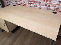 High quality desks with built in drawers, 160cm L, great condition