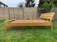 Habitat Radius Oak EU Double Size Bed Frame 140X200cm – Great Condition