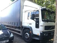 VOLVO FL220 SLEEPER CAB CURTAIN SIDE TRUCK WITH TAIL 18 TON MOT APRIL 2018 DRIVES 100%