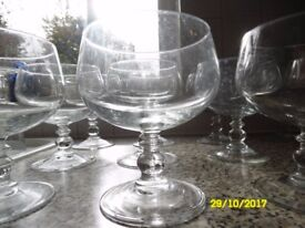 TWO PACKS OF 6 GLASS SUNDAE DISHES