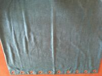Pair of turquoise curtains