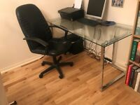 Glass Office Table & Chair