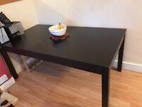 Massive Ikea extending dining table solid dark oak