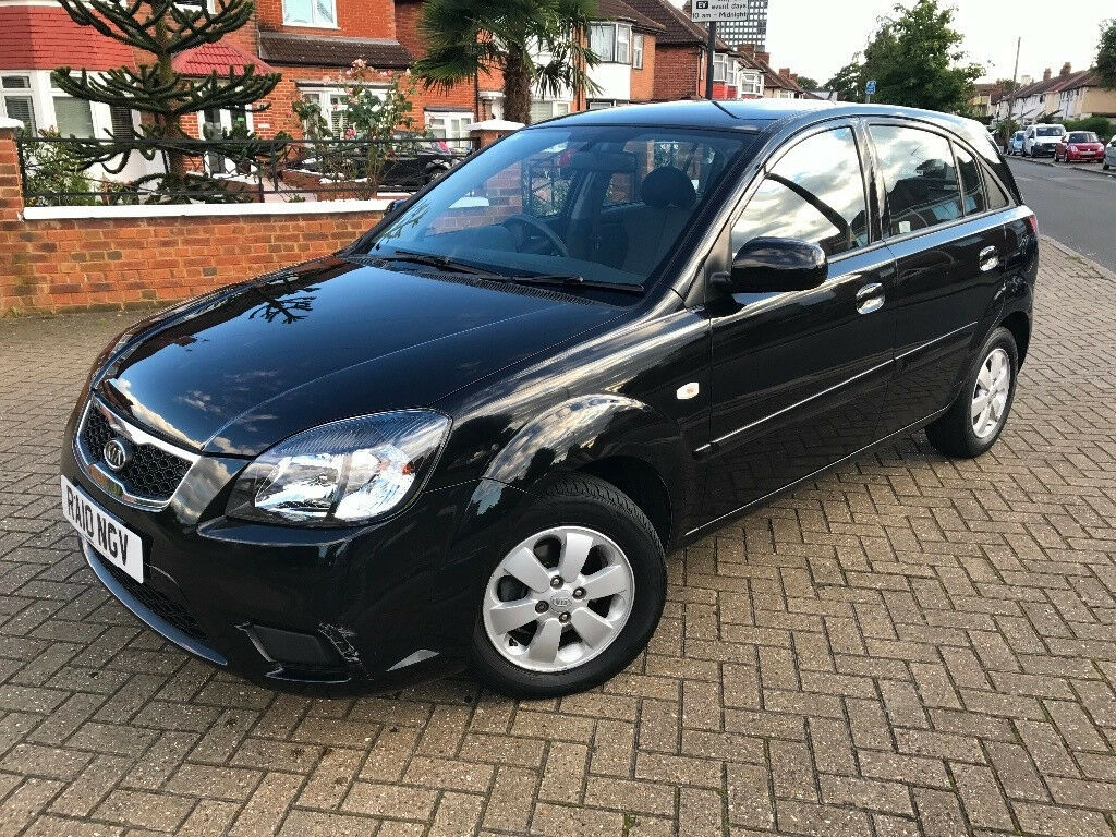 2010 (10) KIA RIO 2 1.4 PETROL AUTOMATIC BLACK LOW MILEAGE EXCELLENT CONDITION