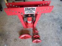 Clark 12 ton hydraulic pipe bender.