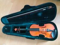 3/4 size violin with canvas case for sale