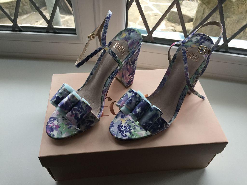 Women's sandals debenhams - Faith Womens Multi Coloured Floral Print High Sandals From Debenhams Size 6