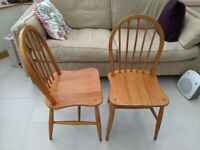 Pair of Retro Kitchen Dining Chairs