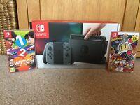 Nintendo Switch with (Bomberman R + 1-2 Switch)
