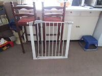 stair gate and travel cot