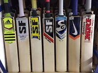 Sale All Cricket Bats From SS TON, CA , MRF, BAS Vampire, New Balance Cricket Gloves Cricket Pads