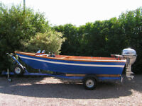 15ft Wooden Motor Boat