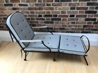 Antique victorian campaign chair