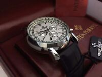 New Swiss Patek Philippe Silver Case Automatic Watch, See Through back