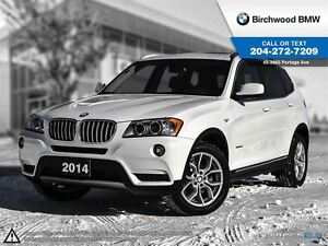 2014 BMW X3 xDrive28i Navigation! Premium Package!