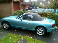 Mazda mx5 2001 11 months mot. 10months MOT. 93500 miles.r educed quick sale.£250 off