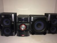Sony Hi-Fi with subwoofer and iPod dock (MHC-EC99i)