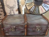 Solid, hand painted trunk