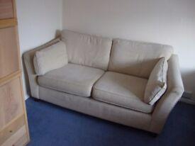 M+S 2 Seater Cream Sofa