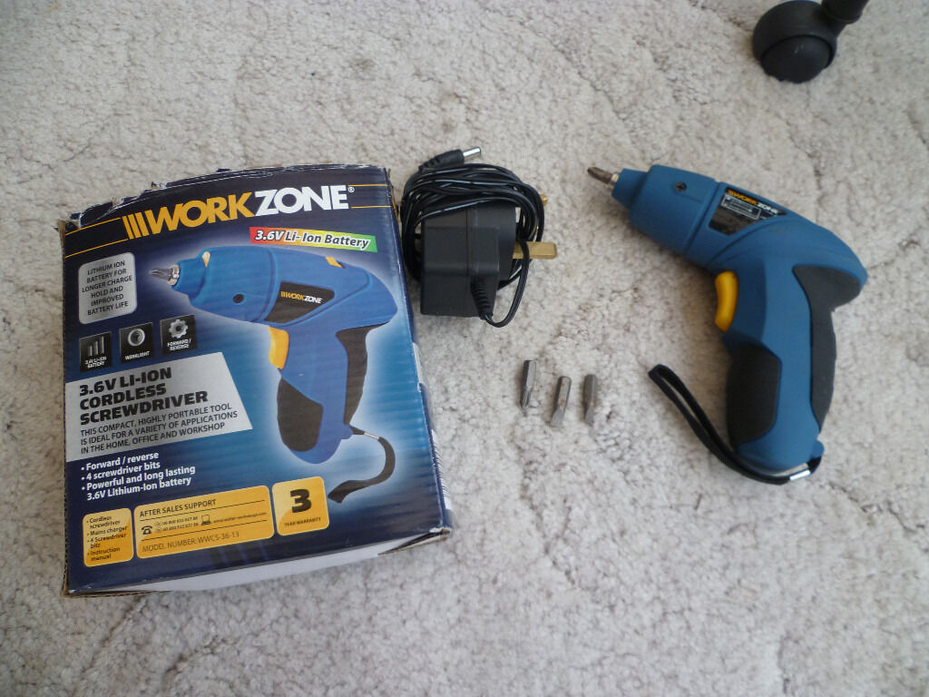 Work Zone 3 6v Li Ion Cordless Screwdriver With All Parts