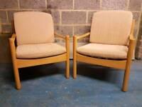 A pair of ERCOL club chairs. art deco/vintage/retro