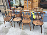 6 x Older Style Wooden Chairs ( need a bit tlc)