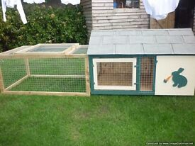 rabbit hutch and run
