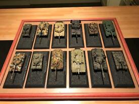 12 model army tanks 1:72
